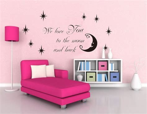 moon and stars bedroom decor moon stars vinyl wall stickers home decor wer love you to