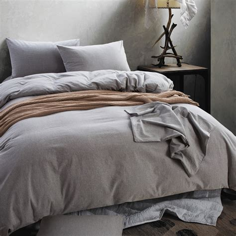 Mens Bedding Sets High Quality Washable Cotton Fabric Solid Color Mens Bedding Set King Size Duvet