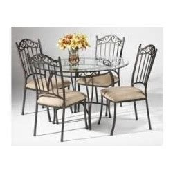 Wrought Iron Glass Dining Table Furniture Mall Mumb And Dining Table Rates