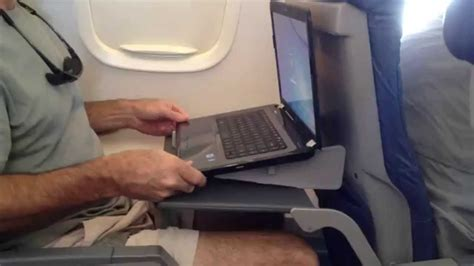 Airplane Tray Table by Laptop Stand On Airplane Tray Table