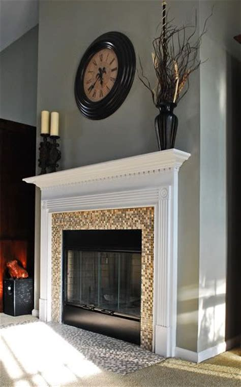 diy glass fireplace diy fireplace surround glass tile woodworking projects