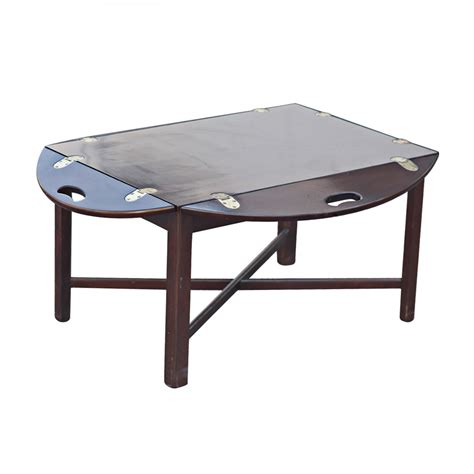 Coffee Table Tray Butler S Folding Tray Drop Side Coffee Table Ebay
