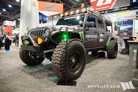 jeep baja 2017 sema baja designs jeep jk wrangler crew cab truck