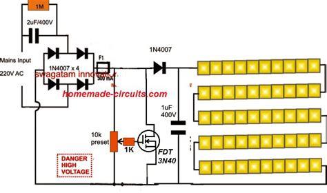 smd led drivertube light circuit homemade circuit
