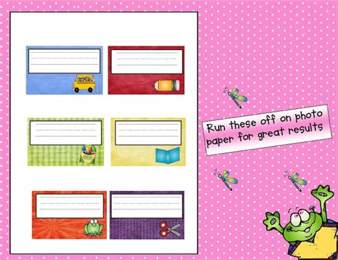 printable name labels for preschool printable name tags educatoring artistic ish