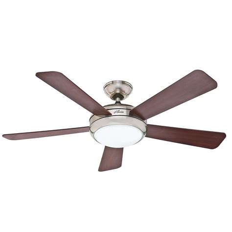 Hunter 52 Quot Palermo Brushed Nickel Cfl Light Remote Ceiling Remote Ceiling Fan With Light