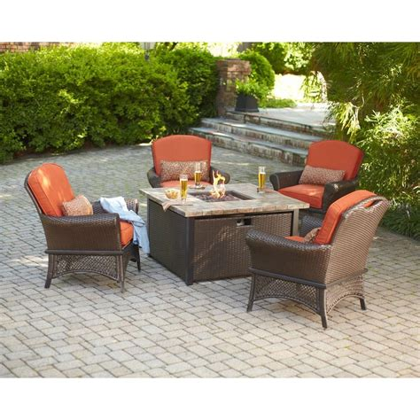 Firepit Patio Set Upc 848306014952 Hton Bay Outdoor Pits Rosemarket 5 Patio Pit Set Xsc 1786
