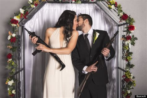 gun themed weddings in las vegas continue to boom in of hook shooting pictures