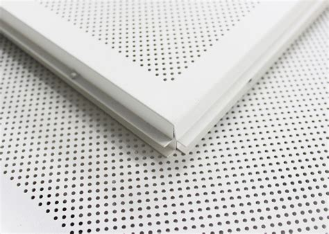 white perforated lay in ceiling tiles 2 x 2 metal