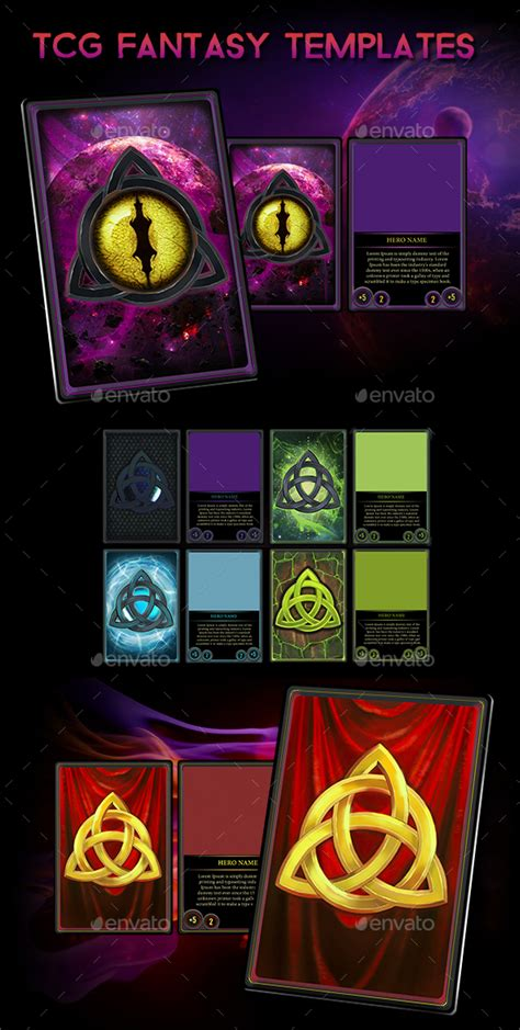 Scifi Tcg Card Template by Tcg Ccg Cards Hd Templates By Combo21 Graphicriver