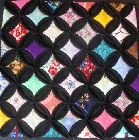 Cathedral Patchwork - cathedral window patchwork by sallytheskellington on