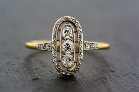 Antique Rings by Antique Gold And Deco Engagement Ring Onewed