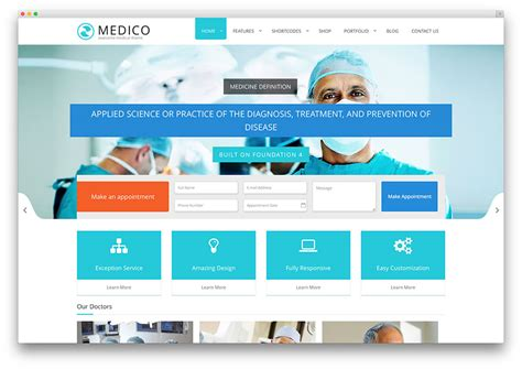 web app homepage design 20 best health and medical wordpress themes 2016 colorlib