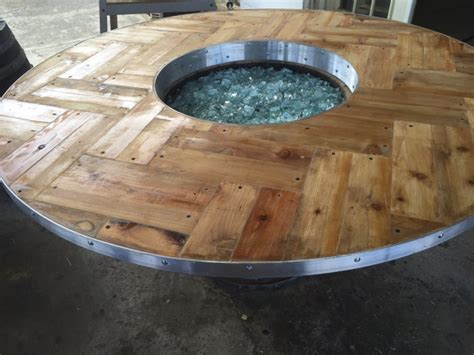 items similar to wine barrel fire pit lazy susan fire