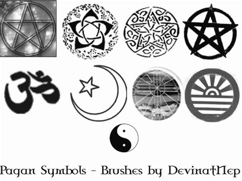 wicca symbols and signs pagan pagan symbols brushes 5 0 by deviantnep on deviantart