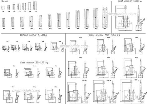 boat anchor drawing boat anchor cad drawings download free autocad blocks