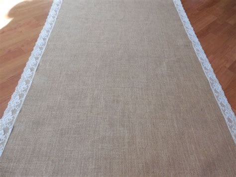 Wedding Aisle Lace Runner by Burlap And Lace Aisle Runner Rustic Wedding Aisle Runner