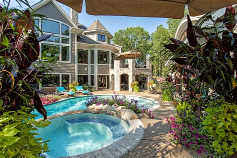 country style pools country european style home traditional pool