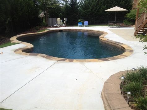 Backyard Buford by Another Black Marble Pebbletec Pool In Buford Ga Rcs