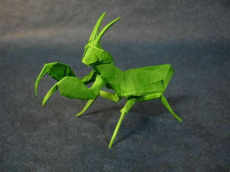 praying mantis origami origami praying mantis by origami artist galen on deviantart