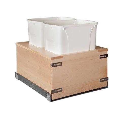 Kitchen Cabinet Pullouts Century Components Double Trash Pullout 34 Quart Wood