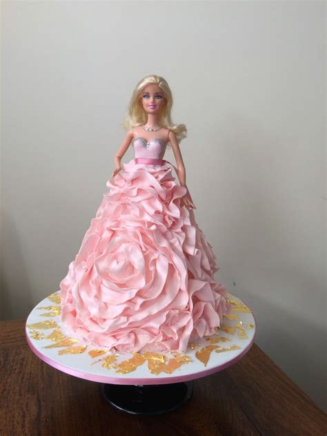 dress cake barbie rose ruffle dress cake doll cake pinterest