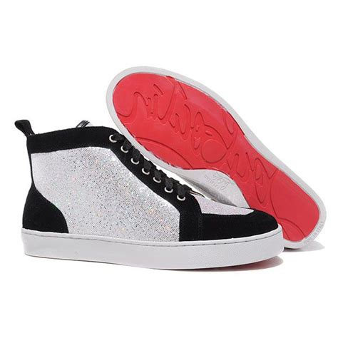 Sneaker Hightop Pria Cowok Prada Mirror Quality black louboutins sneakers christian louboutin knockoff