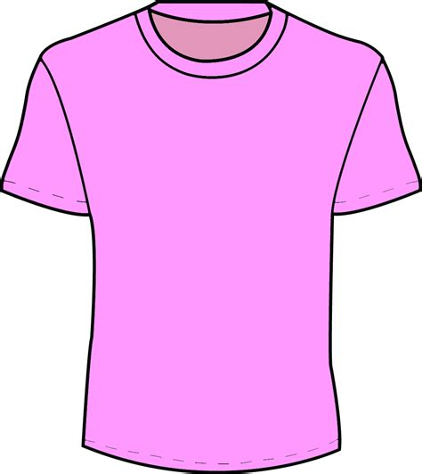 t shirts templates pink t shirt template clipart best