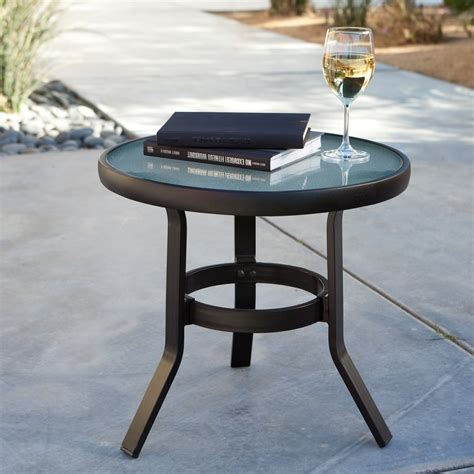small outdoor table coral coast 20 in patio side table patio accent tables