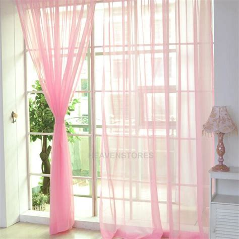 washing voile curtains 2 x transparent tulle voile door window curtain drape