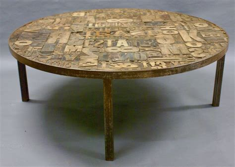 Decorative Coffee Tables Antiques Atlas A Decorative Wooden Printers Block Coffee Table