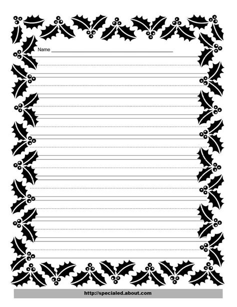 Wedding Writing Border by Writing Paper With Decorative Borders