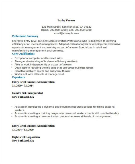 resume sle for business administration graduate qa resume sle quality assurance resume business