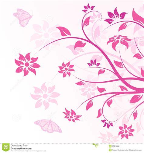 imagenes vectorizadas libres flores del vector en color de rosa fotos de archivo libres