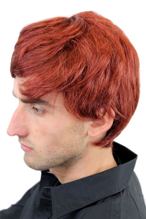short ginger male wig men s wig mens wig short red parting redhead gfw1281 131