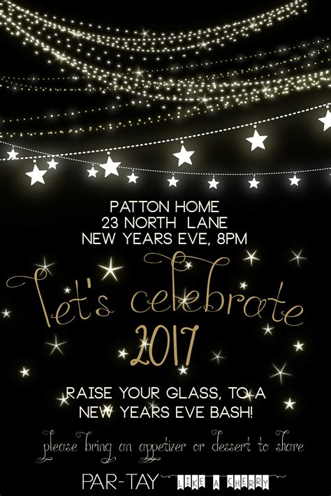 new year invite templates free free new years invitation like a cherry