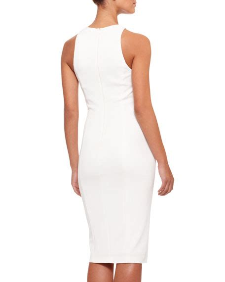 draped waist dress donna karan sleeveless draped waist sheath dress