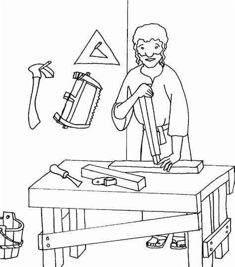 St Joseph Coloring Pages Coloring Home St Joseph Coloring Page