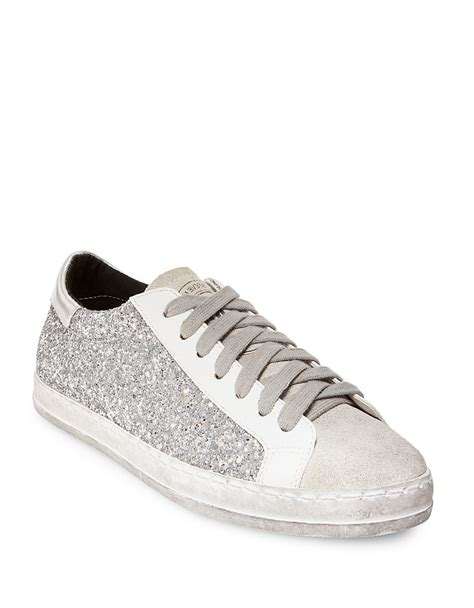 sequin sneakers steve madden florence sequin lace up sneakers in white lyst