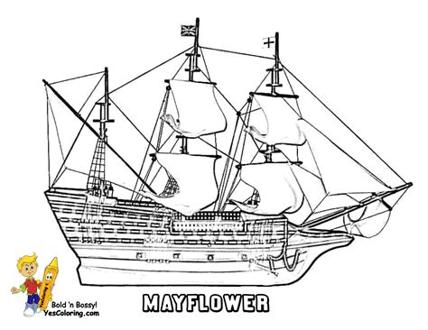 mayflower coloring page mayflower thanksgiving coloring pages