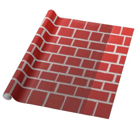 Chimney Paper Roll - brick chimney look wrapping paper zazzle