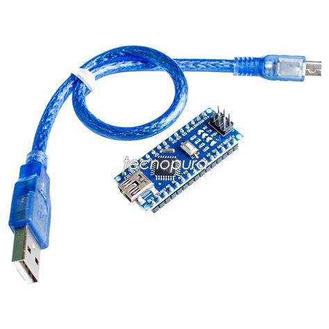 Arduino Nano V3 0 Atmega328 Baru arduino nano v3 0 atmega328 5v ch340 cable usb tecnopura