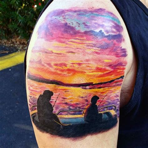 sunset tattoos for men 90 sunset tattoos for fading daylight sky designs