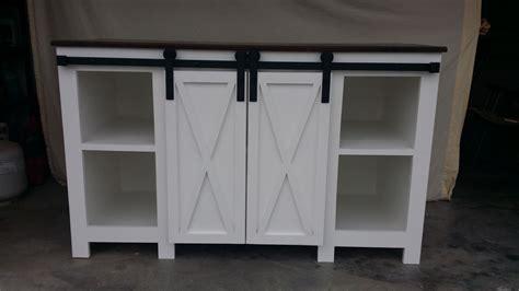 custom  sliding barn door cabinet  wright heritage