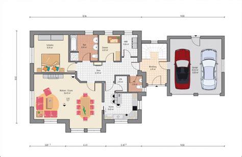 Haus Mit Integrierter Garage Grundriss by Grundriss Mit Garage Haus Entwurf Ideen