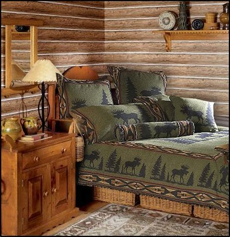 Manor log cabin rustic style decorating cabin decor bear decor