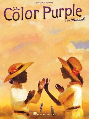 the color purple book read the color purple piano vocal selections by brenda