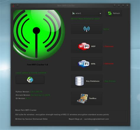 wifi cracker android fern wifi cracker wireless security auditing and attack software to and recover wep wpa