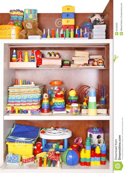 Toys On A Shelf by Shelf With Toys Stock Photography Image 35183262