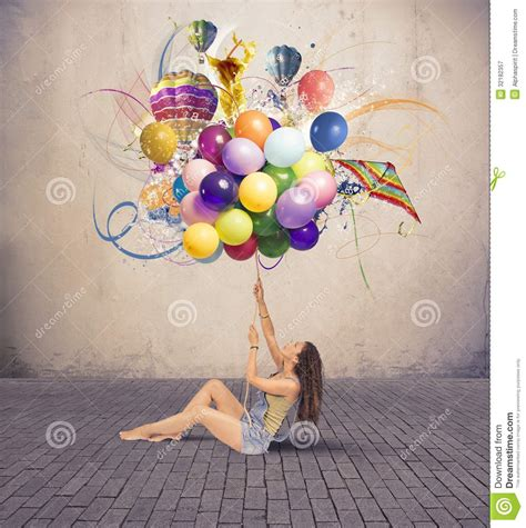 Flying On The Be Creative And Inovatif Penerbit with balloon royalty free stock photography image 32182357